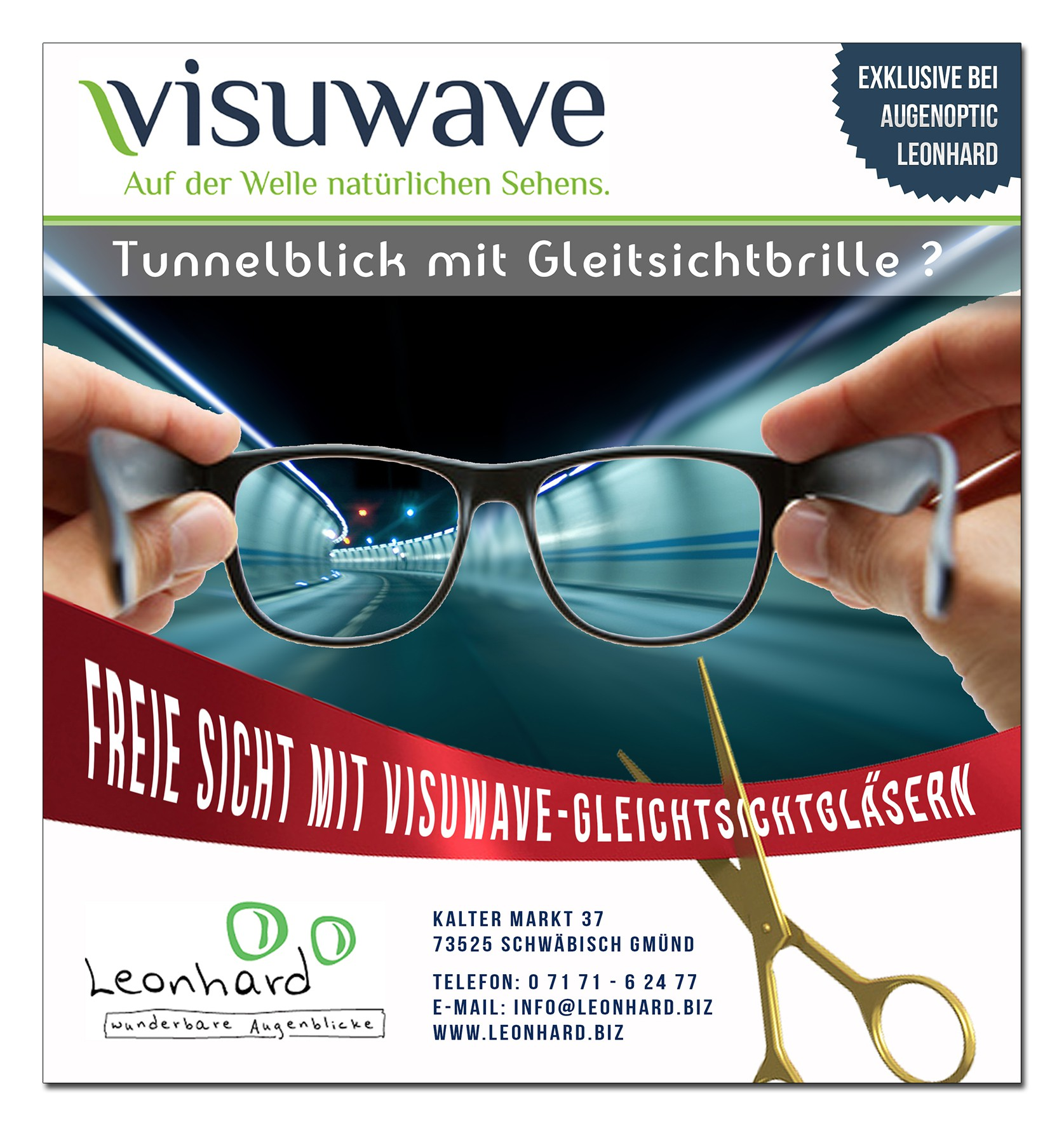 Augenoptik Leonhard need a newspaper ad for glasses