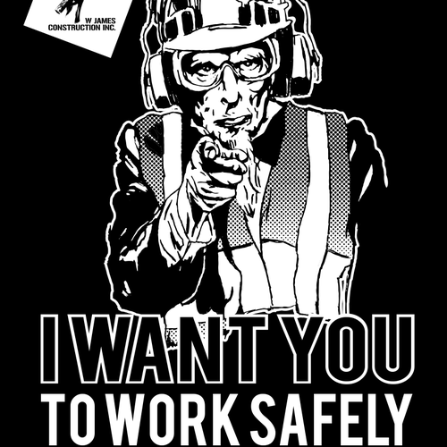 Safety campaign T-Shirt for Grading / Erosion control Constructionworkers