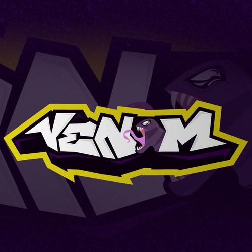 Typography and illustration Venom