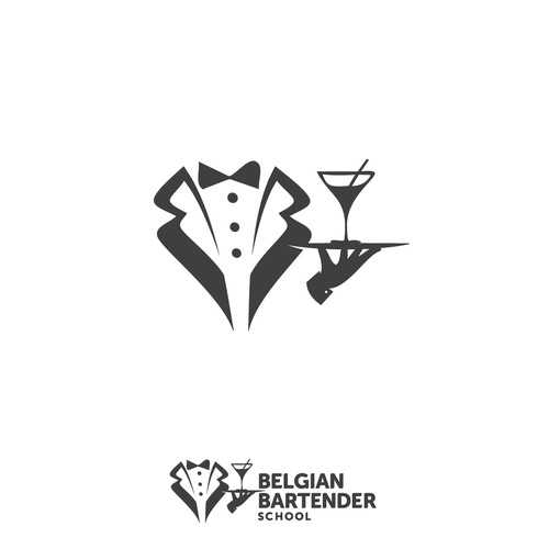 Sophisticated logo for Bartender School