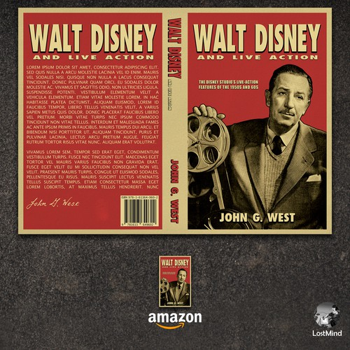 Walt Disney and live action book cover