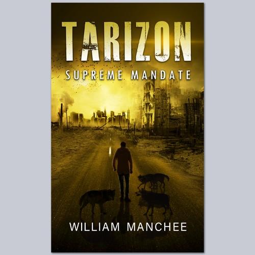 Book cover concept for a dystopian fantasy novel