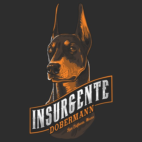 t-shirt design for INSURGENTE DOBERMANN