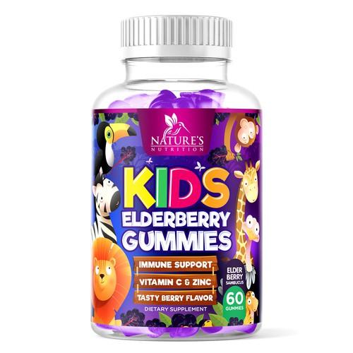Nature's Nutrition Kids Elderberry Gummies