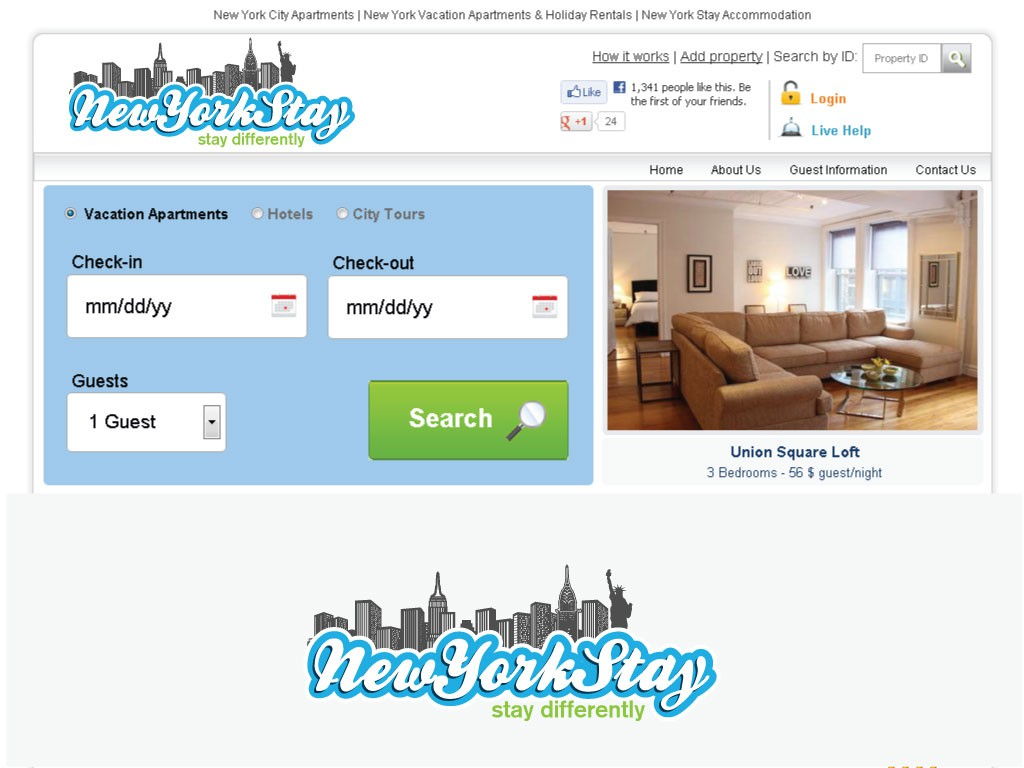 Create the next logo for NewYorkStay