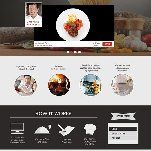 Website Design for a GetAChef