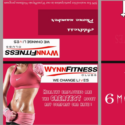 Corporate offer card for Wynn Fitness Clubs