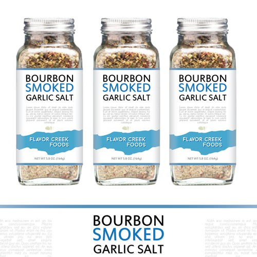 Bourbon Smoked Garlic Salt Label