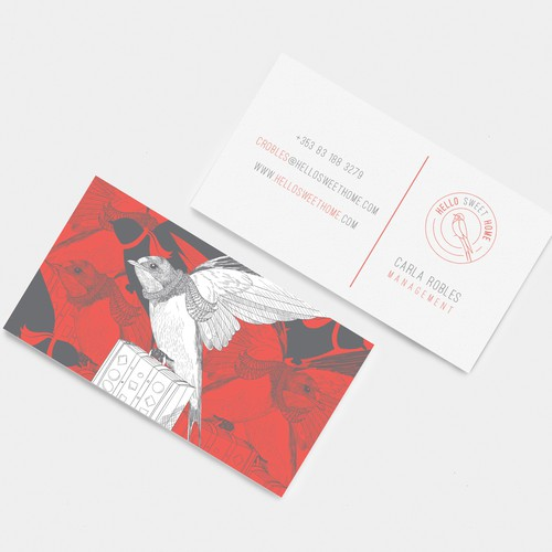 Business Card design for HSH online booking