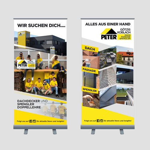 Peter GmbH (Rollup Banner design)