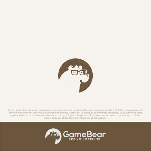 Bear Head logo concept