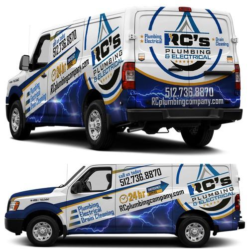 RCPlumbing Company van wrap