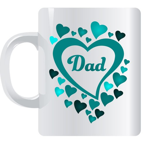 Dad + hearts mug design