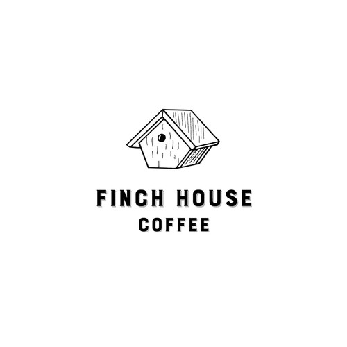 Logo design for Finch House Coffee.