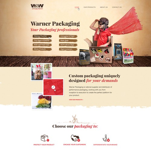 Design for packaging company