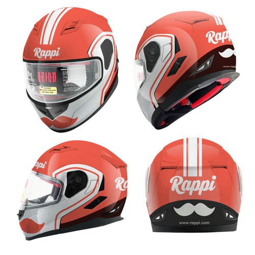 Rappi helmet design
