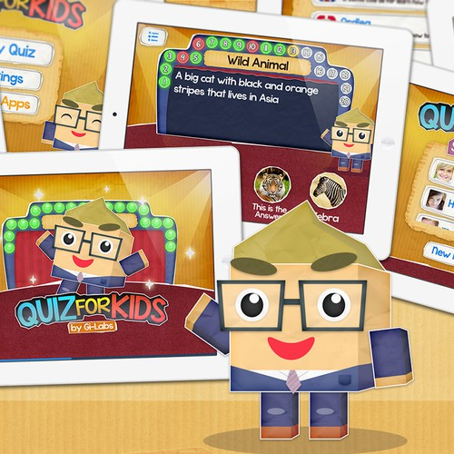 Quiz For Kids Mobile App Interface