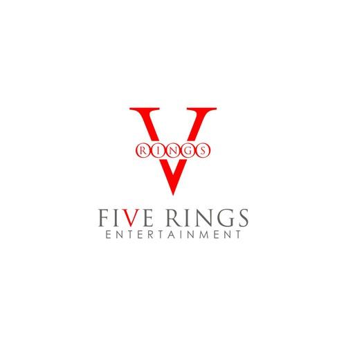 Five Rings Entertainment Logo Design