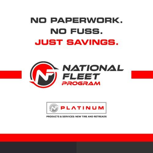 National Fleet Program one-pager cover design.