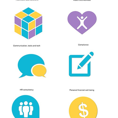 Guaranteed! Icon Pack for Strategic Team Model of an innovative Benefits Solution Firm