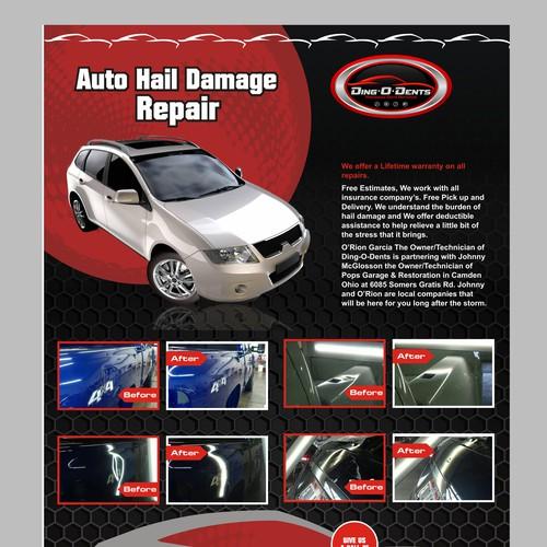 Auto Hail Repair Flyer