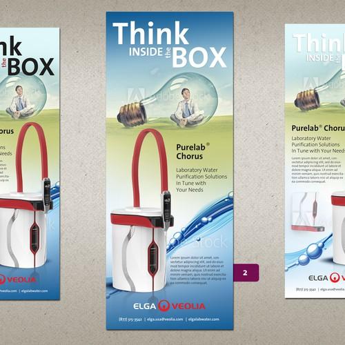Advert design for Elga Veolia