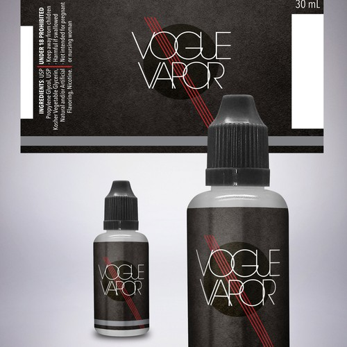 Classic packaging for vapor oil