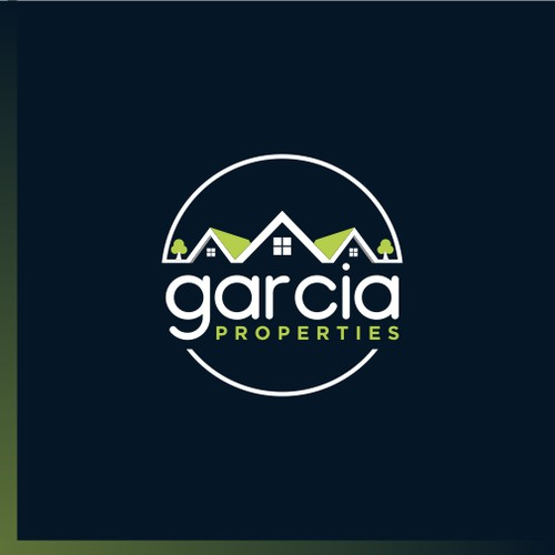 fun and whisical new logo for garcia properties