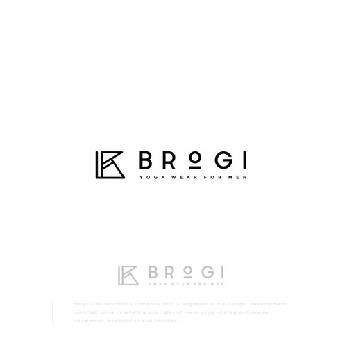 Logo Design for Brogi | Yoga Wear for Men