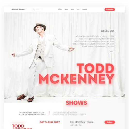 Todd Mckenney redesign