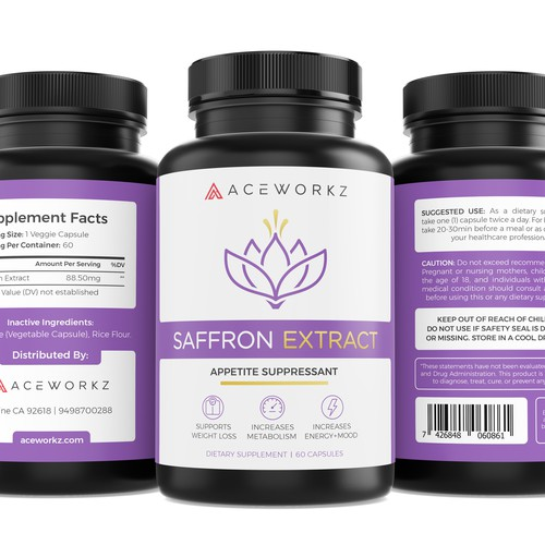 Label Design for Saffron Extract