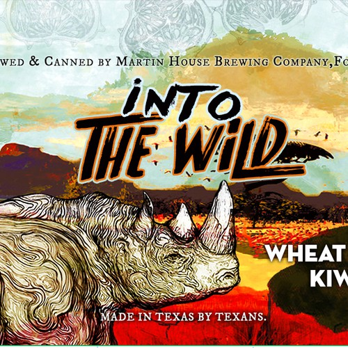 Winning design for Martin House Brewing's new Wheat Beer with Kiwano Fruit !!
