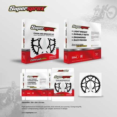 Supersprox sprocket packaging