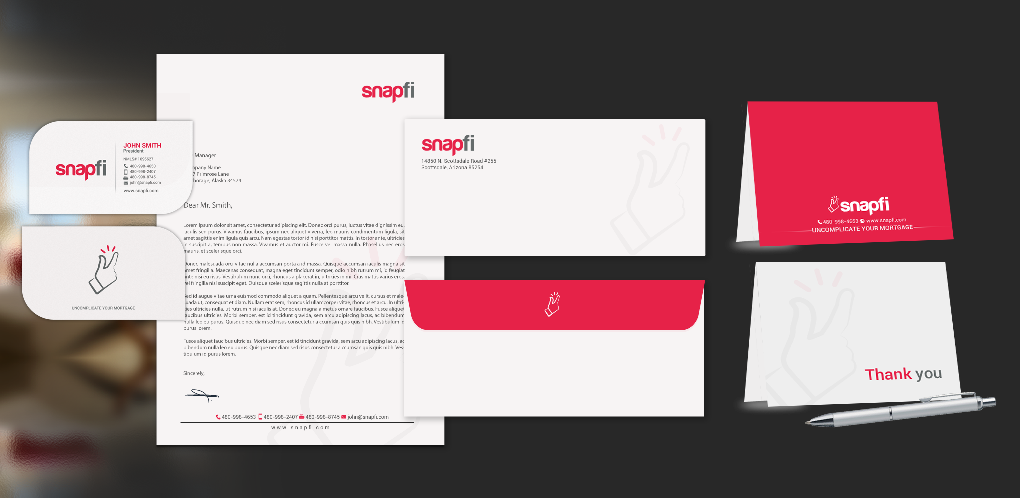 SnapFi Business Cards & Stationary