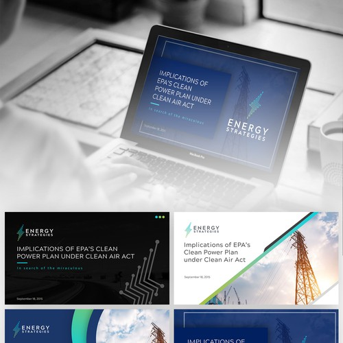 Create a Clean and Modern PowerPoint Template for Energy Strategies