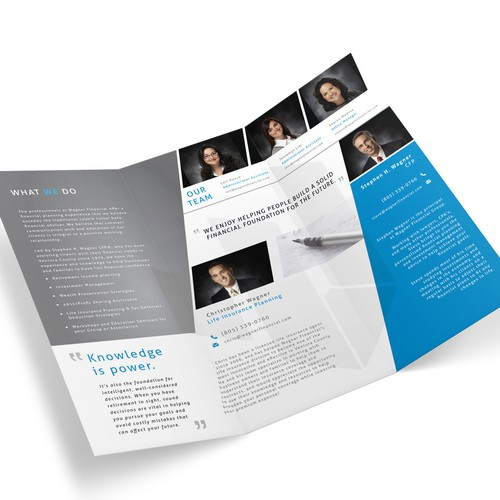 Brochure design for Wagner Financial.