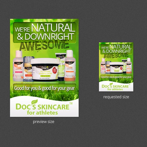 Doc's Skincare needs a new banner ad
