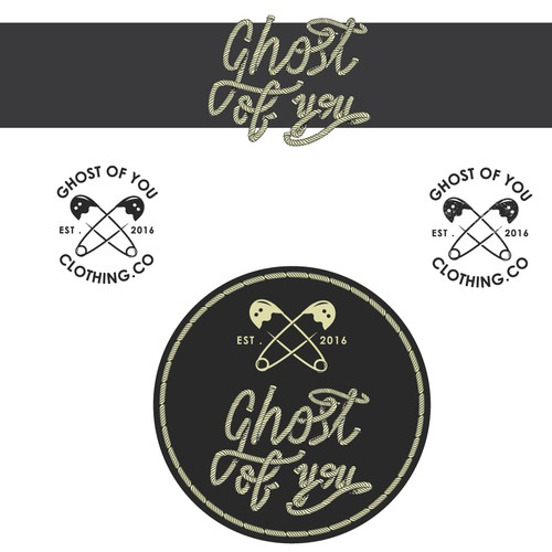 logo for a clothing company, Ghost of you.