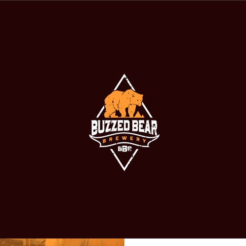 Retro logo concept for Buzzed Bear Brewery