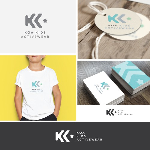 Logo design concept for kids fashion