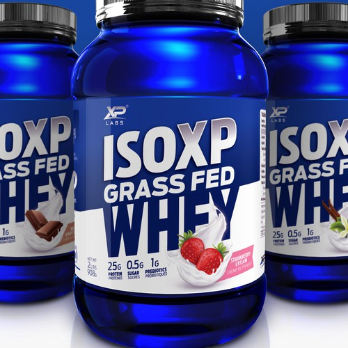 Labels for Grass Fed Whey Product Line