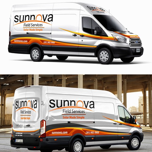 Ford Transit Van wrap design