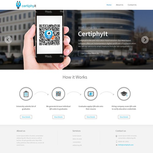 Create a Landing Page for CertiphyIt
