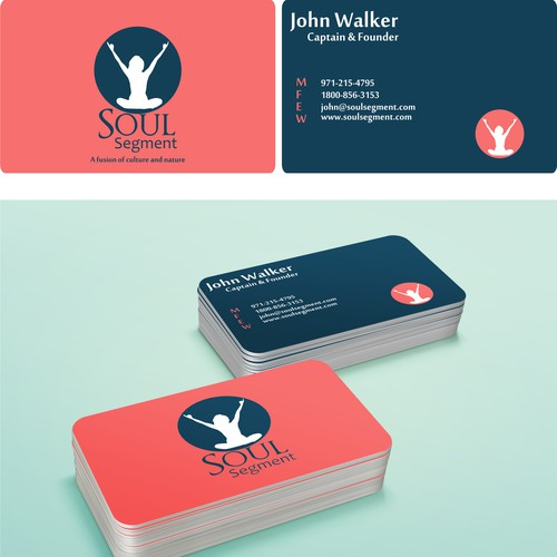 Create a dynamic energy filled business card that has a feel of self-empowerment.