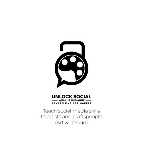 simple, unique and clean logo for social media eCourse for artists and makers