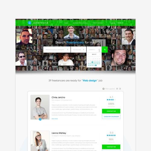 Website design for jobs marketplace