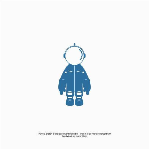 Logo/Character Creation Matching Style Of New Logo With Old - Astronaut