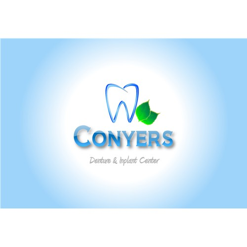 Modern logo for denture center