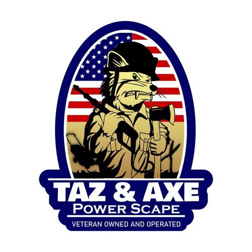 Concept for Taz & Axe logo