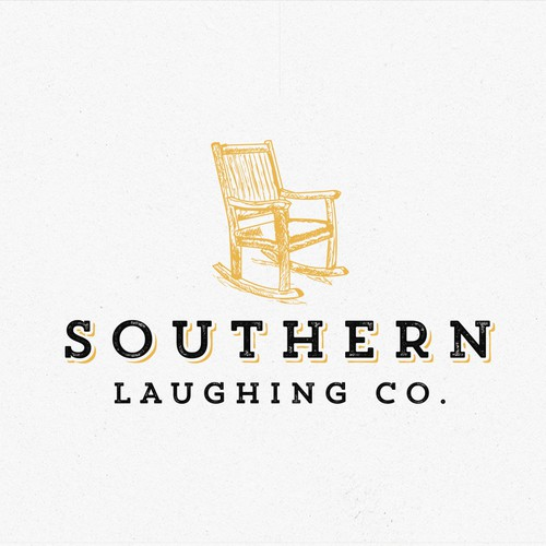 Unique vintage logo for Southern Laughing Company